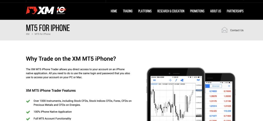 XM mobile app